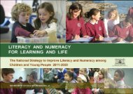 Literacy and Numeracy for Learning and Life: The National Strategy to