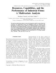 Resources, capabilities, and the performance of industrial firms: A ...