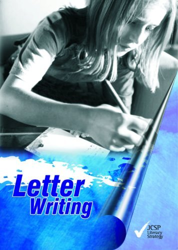 Letter Writing Booklet - Jcsp