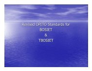 Revised OPITO Standards for BOSIET & TBOSIET - DrillSafe
