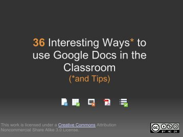 36 Interesting Ways* to use Google Docs in the Classroom - PDST