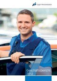 Geschäftsbericht 2012 - Zuger Pensionskasse