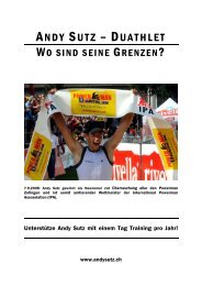 ANDY SUTZ – DUATHLET - Andy Sutz (CH)