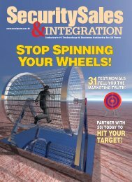 stop spinning your wheels! - Security Sales & Integration Magazine