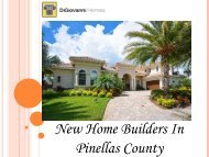 New Home Builders In Pinellas County
