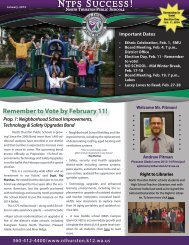 NTPS Success E-Newsletter January 2013 - North Thurston Public ...