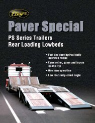 Paver Special - Fixed Gooseneck PS Series - ED Etnyre & Co.