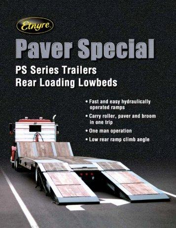 Paver Special - Fixed Gooseneck PS Series - ED Etnyre & Co.