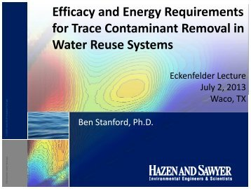 Efficacy and Energy Requirements for Trace Contaminant Removal ...
