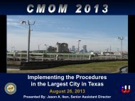 CMOM: Implementing the Procedures in the Largest City in Texas