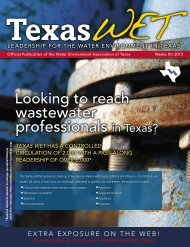 Texas WET Advertising Rates - Water Environment Association of ...