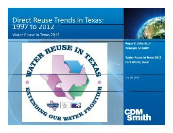 Direct Reuse Trends in Texas: 1997 t 2012 1997 to 2012