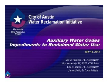 Auxiliary Water Codes