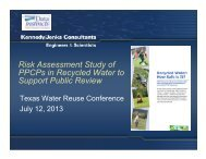 Risk Assessment Study of PPCPs in Recycled Water to Support ...
