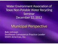 Non-Potable Water Reuse - Water Environment Association of Texas