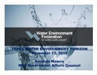 WEF Government Affairs Update - Water Environment Association of ...