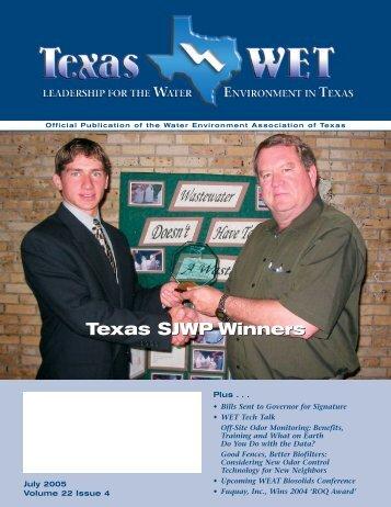 Texas SJWP Winners - Water Environment Association of Texas