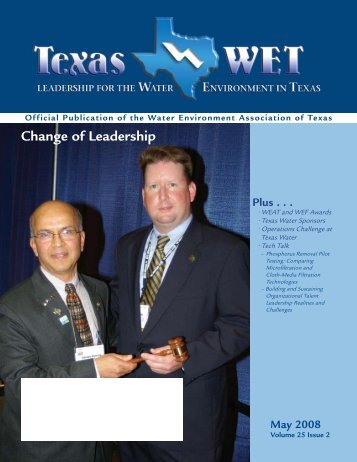 Change of Leadership - Water Environment Association of Texas