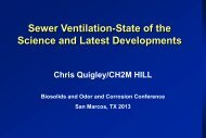 Sewer Ventiliation - State of the Science and Latest Developments
