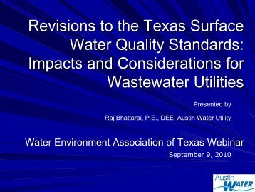 Typical TP Limit - Water Environment Association of Texas