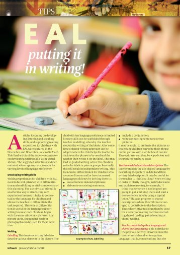 EAL putting it in writing! - PDST