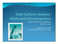 Total Coliform Misconceptions - Water Environment Association of ...