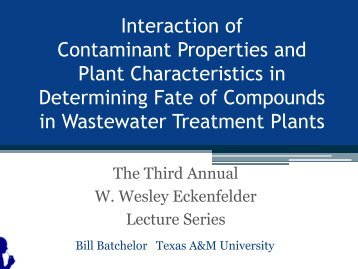 Interaction of Contaminant Properties and Plant Characteristics in ...