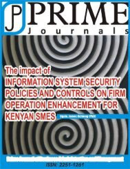 The impact of information system security policies and controls on ...