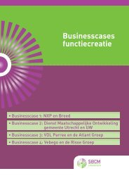 Download Businesscases functiecreatie - SBCM