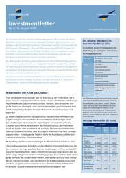 Investmentletter Nr. 8/07 - Standard Life