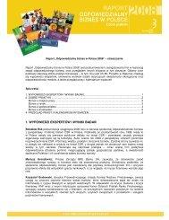 Raport - Forum Odpowiedzialnego Biznesu