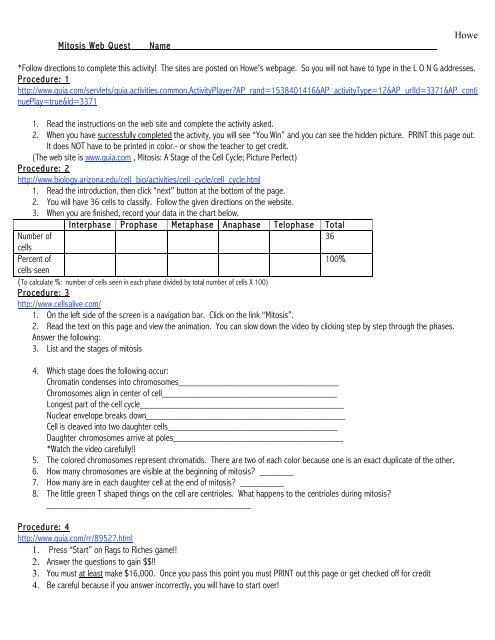 meiosis webquest worksheet answer key