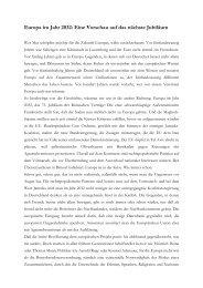 Europa im Jahr 2032: Eine Vorschau auf das ... - Navid Kermani