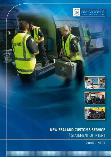 Statement of Intent 2006-2007 - New Zealand Customs Service