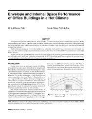 Envelope and Internal Space Performance of Office Buildings in a Hot Climate