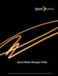 Sprint Media Manager Faqs