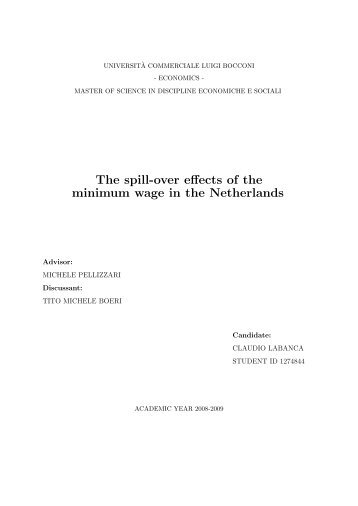 The spill-over effects of the minimum wage in the Netherlands