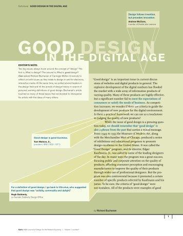 Good Design in the Digital Age - AIGA