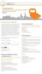Programmflyer und Anmeldung - Deutsche Gesellschaft für ...