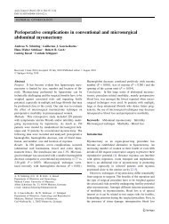 Perioperative complications in conventional and ... - Springer