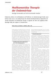Medikamentöse Therapie der Endometriose