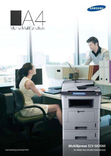 MultiXpress SCX-5835NX - Printware