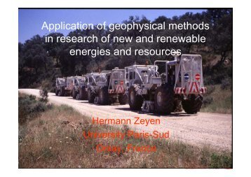 Application of geophysical methods in research of new and ...