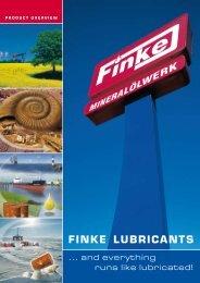 FINKE LubRICaNTS - Finke Oil