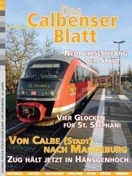 Calbenser Blatt Jan / Feb 2015