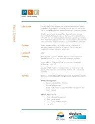 PSP Fact Sheet (PDF) - GPSC
