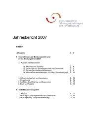 Jahresbericht 2006 - Beratungsstelle für Schwangerschaftsfragen ...