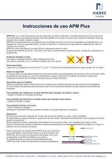 Instrucciones de uso APM Plus
