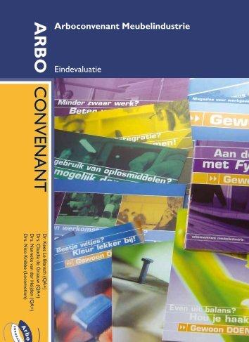 Eindrapport evaluatie arboconvenant meubelindustrie - Bureau KLB