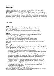 Präambel Satzung - Kundalini Yoga Zentrum München